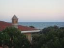 Вид на море из окна отеля))